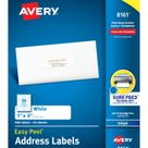 Avery®® Easy Peel® Address Labels, Sure Feed Technology, Permanent Adhesive, 1