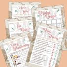 Traveling from Miss to Mrs Bridal Shower Set of 5 Games   Etsy