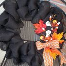 Halloween Burlap Wreaths