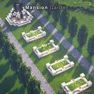 18 Awesome Minecraft Garden Ideas - Mansion Garden