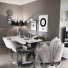 Grey wall chic modern decor