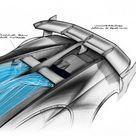 Bugatti Vision Gran Turismo Concept Design Sketch NACA Intake