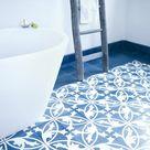 Zement - Mosaikplatte FLAVIA - Serie VIA - 20 x 20 - dunkelblau / weiß« von Replicata - Farben: - Replikate