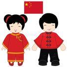 China traditional costume stock illustration. Illustration of gold   37764204