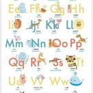 Buch - ABC Poster 70,7x100 cm Alphabet spielerisch mit Tieren lernen Das ABC-Lernposter mit Groß- und Kleinbuchstaben