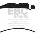 EBC 12+ Aston Martin Vantage 4.7 Yellowstuff Front Brake Pads