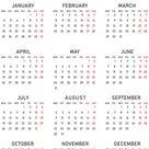 2021 Calendar PNG Transparent Clipart