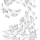 Swirling Autumn Leaves coloring page | Free Printable Coloring Pages
