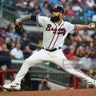 Dallas Keuchel of the Atlanta Braves pitches against the Miami...