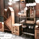 Creative Modern Cupboard Shaped Like a Dollhouse
