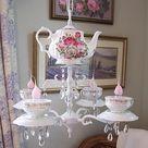 Rose Teapot Chandelier