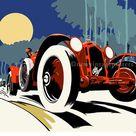 Art Deco Alfa Romeo 8C 2300 poster giclee print   Etsy