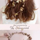 The Honeycomb Bridal Flower Crowns Hair Combs & by thehoneycomb