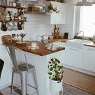 Kleine Kücheninspiration | Small kitchen inspiration, Kitchen inspirations, Home decor kitchen