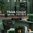 Think Green: waldgrüne Ideenecke im Schlafzimmer