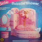 Barbie Bubblin Shower Bath Playset Sprays Real Bubbles 1992