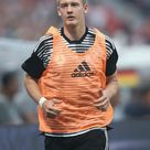 Julian Brandt of Germany warms up during the international friendly...