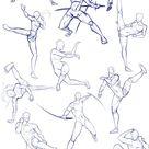 Battle/action poses by Antarija on DeviantArt