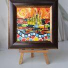 Sagrada Familia Painting oil original framed, Barcelona Painting oil, Barcelona, Oil Painting on canvas, Barcelona Painting, Espana Wall Art