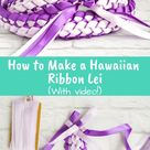 How to Make a Double Braided Hawaiian Ribbon Lei with Four Strands