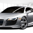 Audi R8 4.2 FSI quattro. 8 cylinder, Direct Injection, Four valve tech, Compression Ratio 12.51.  A full size toy for those who almost have it all.
