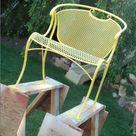 Spray Painting Wrought Iron Furniture