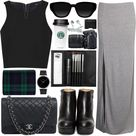 Grey Maxi Skirts