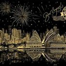 Sydney View - Scratch Art - Special Offer - 10x16''/25x40cm (Outstanding)