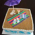 Beach Theme Cakes