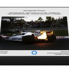 action engine turbo F1 Formula 1. 1000 Piece Puzzle. 1983 Canadian Grand Prix  <br>  Montreal, Canada. 10 12 June 1983.  <br>  Exhaust flame from Nel.