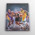 Canvas Prints Michael JORDAN, KOBE Bryant Lebron James Basketball Posters Sports Art Painting Boys Room Decor Man Cave Art NBA Portraits