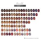Color Charts Samples For Hairrs Human Hair Extensions