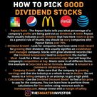 ❗️HOW TO PICK GOOD DIVIDEND STOCKS⁉️