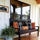 Ana white large porch bench with x backs
