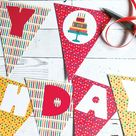 Totally Free Printable Birthday Banner