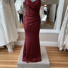 Sorella Vita   Sequin Formal Bridesmaid / Mob Dress, Crimson, (Size 6 (S)   Tradesy