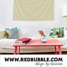 Buy Wall tapestry (wall hanging) with 3d Geometric Pattern Print