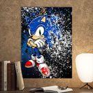 Metal Poster Sonic The Hedgehog