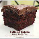 Coffee & Kahlúa Crazy Cake (no eggs, milk or butter)