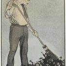 Albert Hahn I, 1887   Design a political cartoon   fine art print   Poster print canvas paper / 60x80cm   24x31