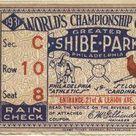 vintage World Series ticket stub question