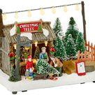 LED Light up Tug of War Winter Scene Festive Chr Ornament 20x15x12cm - for sale online   eBay