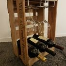 Wine Bar II - Wine rack from old wine boxes