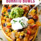 Vegetarian Spaghetti Squash Burrito Bowls