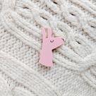 Pastel Pink Llama Brooch