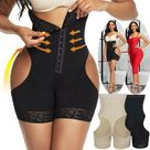 Lady Fitness Belly Control Body Shaping High Waist Butt Lifting Shapewear Boxer Shaper Sexy Women Breathable Lift-hip Bodysuit