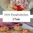 Weight Watchers Pizzabrötchen! Herzhafte Brötchen oder Grillbeilage