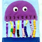 AFTER CHRISTMAS Quiet activity book addon page Jellyfish bead counting page educational game busy bags quiet book