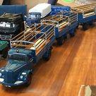 (eBay) MINICHAMPS 1:18. MERCEDES BENZ L6600 TRUCK & 2-AXLE TRAILER. RARE COLOUR.