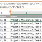 Using Excel REPLACE and SUBSTITUTE functions   formula examples